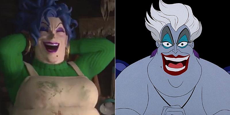 La sorcière serait inspirée d'Ursula dans La Petite sirène