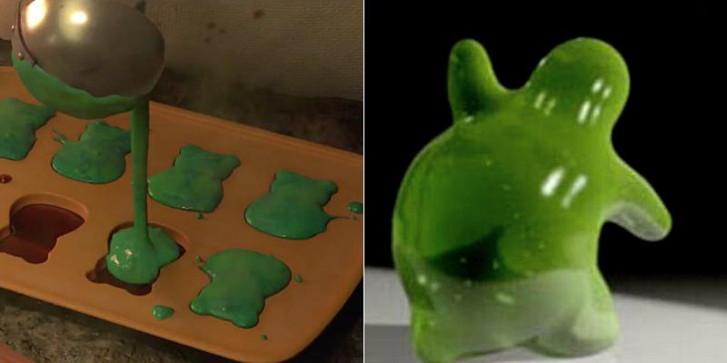 Lors d'une de ses potions, la sorcière créé des Flubbers dans ses moules à gâteaux.