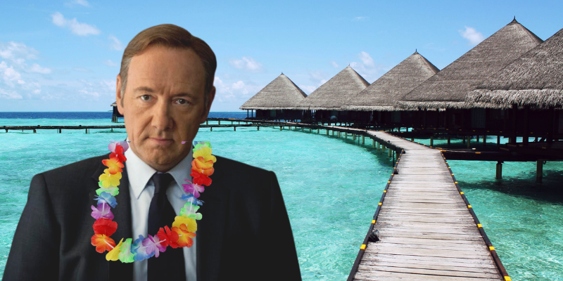 Scoop : Frank Underwood est devenu G.O. au Club Med - On a eu Show