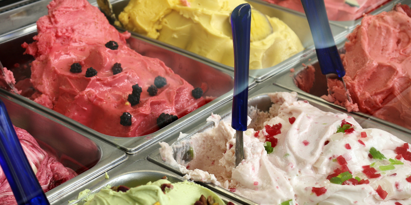 This gelateria offers 42 different flavors