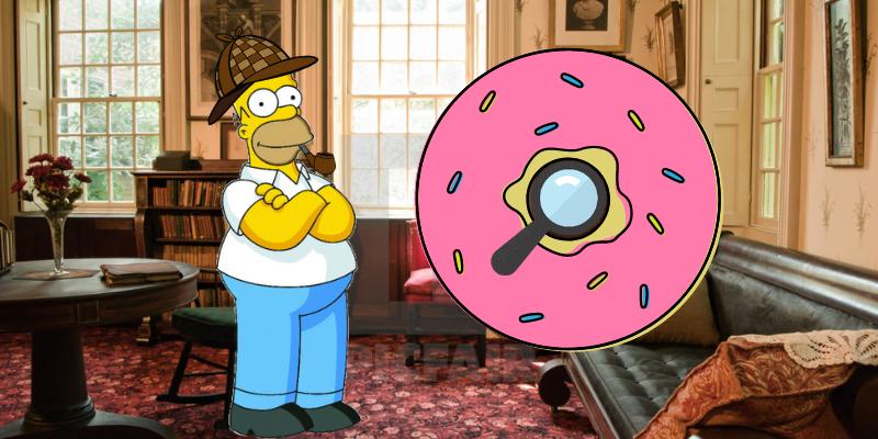 Homer investigates on a Whodonut