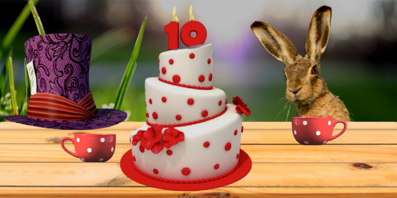 10 ans d'Effeuillage : le chapelier fou et le lièvre de mars fêtent enfin un vrai anniversaire