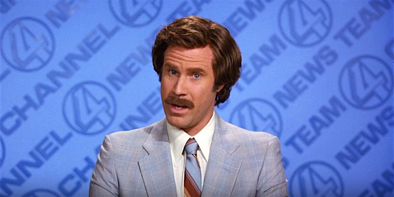Anchorman présentateur vedette légende ron burgundy conseil Crazy Poppins