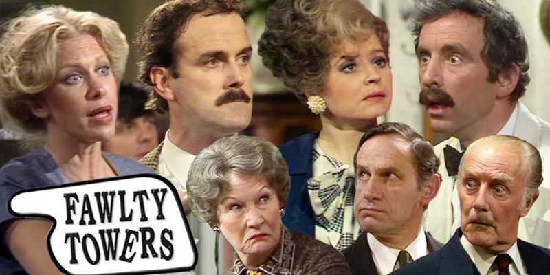 Fawlty towers john cleese série comique britannique conseil Crazy Poppins
