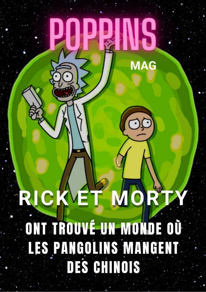 Rick et Morty trouvent un monde où les pangolins mangent des Chinois